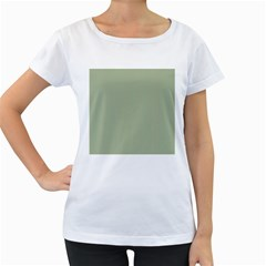 Background Pattern Green Women s Loose Fit T Shirt (white) by Onesevenart
