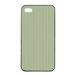 Background Pattern Green Apple Iphone 4/4s Seamless Case (black) by Onesevenart