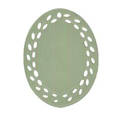 Background Pattern Green Ornament (oval Filigree) by Onesevenart