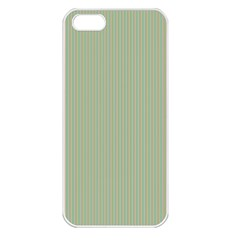 Background Pattern Green Apple Iphone 5 Seamless Case (white) by Onesevenart