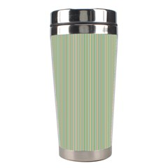 Background Pattern Green Stainless Steel Travel Tumblers by Onesevenart