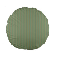 Background Pattern Green Standard 15  Premium Flano Round Cushions by Onesevenart