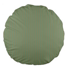 Background Pattern Green Large 18  Premium Flano Round Cushions by Onesevenart