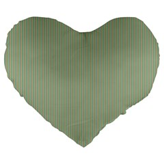 Background Pattern Green Large 19  Premium Flano Heart Shape Cushions by Onesevenart