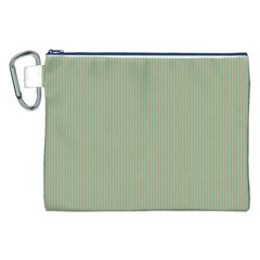 Background Pattern Green Canvas Cosmetic Bag (xxl) by Onesevenart