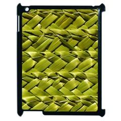 Basket Woven Braid Wicker Apple Ipad 2 Case (black) by Onesevenart