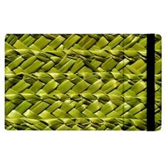 Basket Woven Braid Wicker Apple Ipad 3/4 Flip Case by Onesevenart