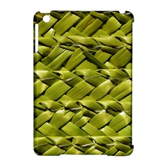 Basket Woven Braid Wicker Apple Ipad Mini Hardshell Case (compatible With Smart Cover) by Onesevenart