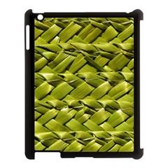 Basket Woven Braid Wicker Apple Ipad 3/4 Case (black) by Onesevenart