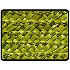 Basket Woven Braid Wicker Double Sided Fleece Blanket (large)  by Onesevenart