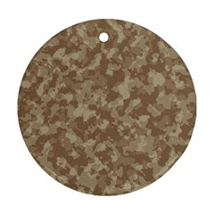 Camouflage Tarn Texture Pattern Round Ornament (two Sides) by Onesevenart