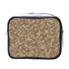 Camouflage Tarn Texture Pattern Mini Toiletries Bags by Onesevenart