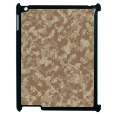 Camouflage Tarn Texture Pattern Apple Ipad 2 Case (black) by Onesevenart