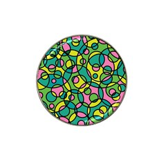 Circle Background Background Texture Hat Clip Ball Marker (4 Pack)