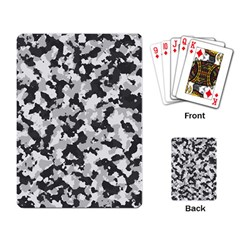 Camouflage Tarn Texture Pattern Playing Card by Onesevenart