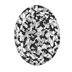 Camouflage Tarn Texture Pattern Ornament (oval Filigree) by Onesevenart