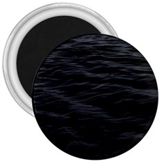 Dark Lake Ocean Pattern River Sea 3  Magnets by Onesevenart