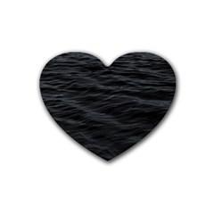 Dark Lake Ocean Pattern River Sea Heart Coaster (4 Pack)  by Onesevenart