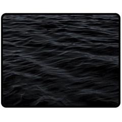 Dark Lake Ocean Pattern River Sea Fleece Blanket (medium)  by Onesevenart