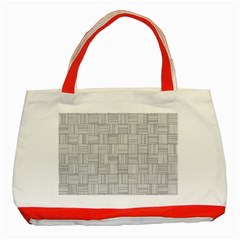 Flooring Household Pattern Classic Tote Bag (red) by Onesevenart