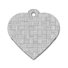 Flooring Household Pattern Dog Tag Heart (one Side) by Onesevenart