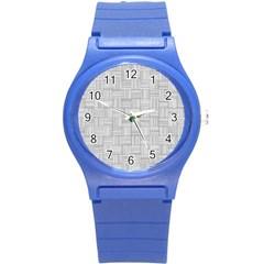 Flooring Household Pattern Round Plastic Sport Watch (s) by Onesevenart