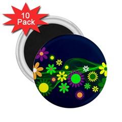 Flower Power Flowers Ornament 2 25  Magnets (10 Pack)  by Onesevenart