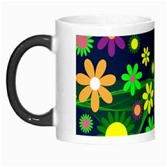 Flower Power Flowers Ornament Morph Mugs by Onesevenart