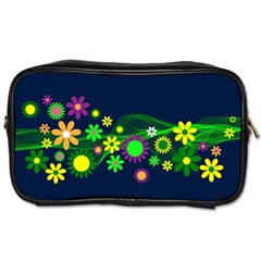 Flower Power Flowers Ornament Toiletries Bags by Onesevenart