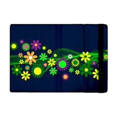 Flower Power Flowers Ornament Apple Ipad Mini Flip Case by Onesevenart