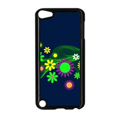 Flower Power Flowers Ornament Apple Ipod Touch 5 Case (black) by Onesevenart