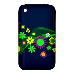 Flower Power Flowers Ornament Iphone 3s/3gs by Onesevenart