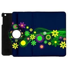 Flower Power Flowers Ornament Apple Ipad Mini Flip 360 Case by Onesevenart