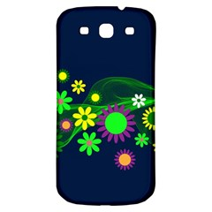 Flower Power Flowers Ornament Samsung Galaxy S3 S Iii Classic Hardshell Back Case by Onesevenart