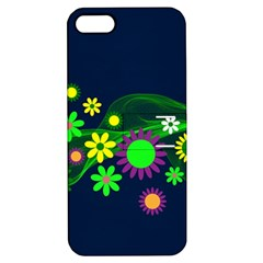 Flower Power Flowers Ornament Apple Iphone 5 Hardshell Case With Stand by Onesevenart