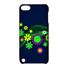 Flower Power Flowers Ornament Apple Ipod Touch 5 Hardshell Case With Stand by Onesevenart