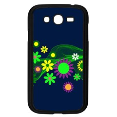 Flower Power Flowers Ornament Samsung Galaxy Grand Duos I9082 Case (black) by Onesevenart