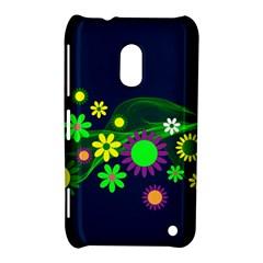 Flower Power Flowers Ornament Nokia Lumia 620 by Onesevenart