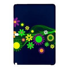 Flower Power Flowers Ornament Samsung Galaxy Tab Pro 12 2 Hardshell Case by Onesevenart