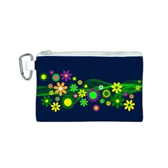 Flower Power Flowers Ornament Canvas Cosmetic Bag (s) by Onesevenart