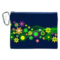 Flower Power Flowers Ornament Canvas Cosmetic Bag (xxl) by Onesevenart