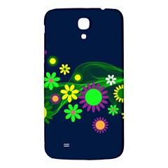 Flower Power Flowers Ornament Samsung Galaxy Mega I9200 Hardshell Back Case by Onesevenart