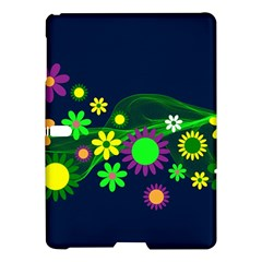 Flower Power Flowers Ornament Samsung Galaxy Tab S (10 5 ) Hardshell Case  by Onesevenart