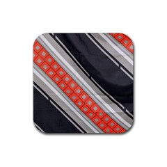 Bed Linen Microfibre Pattern Rubber Square Coaster (4 Pack)  by Onesevenart