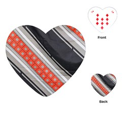 Bed Linen Microfibre Pattern Playing Cards (heart)  by Onesevenart