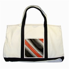 Bed Linen Microfibre Pattern Two Tone Tote Bag by Onesevenart