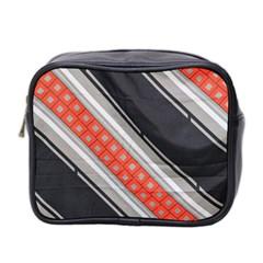 Bed Linen Microfibre Pattern Mini Toiletries Bag 2 Side by Onesevenart