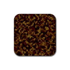 Camouflage Tarn Forest Texture Rubber Square Coaster (4 Pack)  by Onesevenart