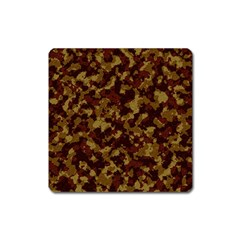 Camouflage Tarn Forest Texture Square Magnet by Onesevenart