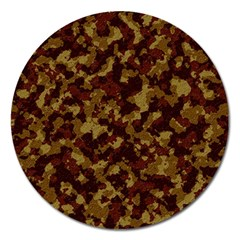Camouflage Tarn Forest Texture Magnet 5  (round) by Onesevenart